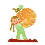 Girl with Pumpkin