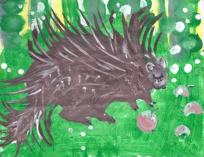 dappled porcupine