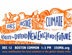 Jobs, Justice, CLimate: Defend New England's Future 12/12 Boston Common