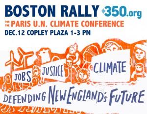 350.org Boston Rally poster