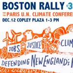 350.org Boston Rally poster