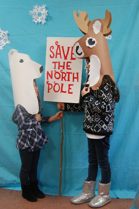 Save the north Pole Reindeer and Polar Bear