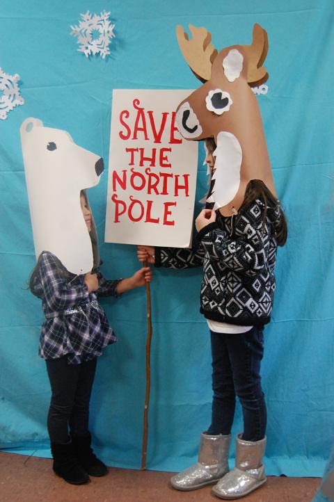 Save the north Pole Reindeer and Polar Bear