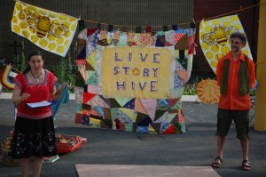 Earthworm Pie Puppet Theater's Live Story Hive