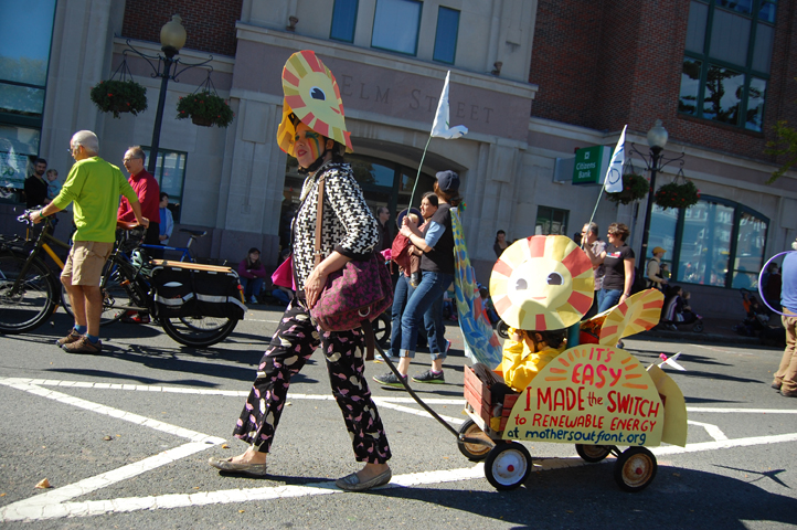 Renewable Energy at the Honk Parade with Mothers Out Front
