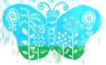 Pollinator Santuary, sky blue with green meadow