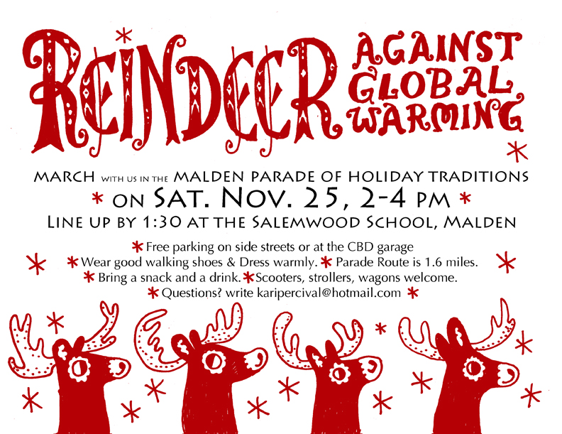 Reindeer Against Global Warming Parade Invitation
