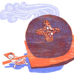 Vasalisa's magic doll bakes bread