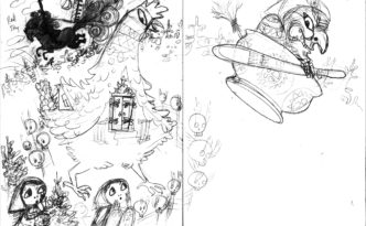 Sketch: Baba Yaga Arrives #2